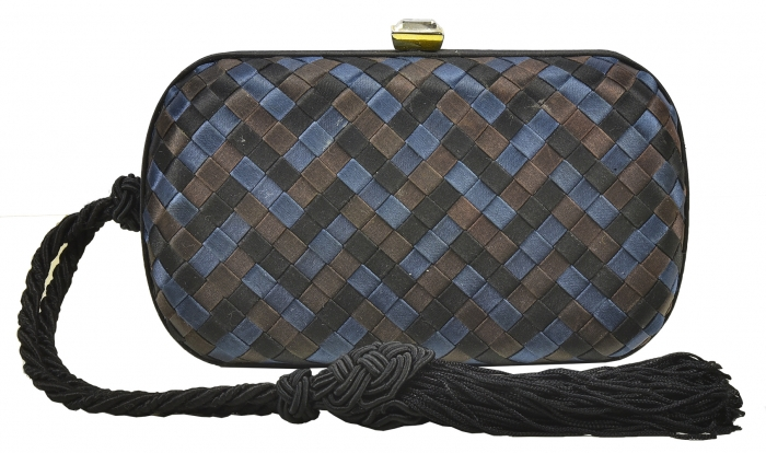 Iconic Bottega Venetta Silk Knot Clutch