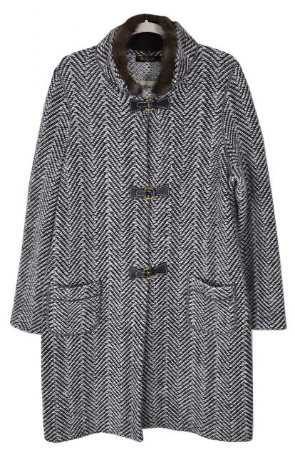 Luxurious Lora Piana Cashmere Duffle Coat with Sable Collar