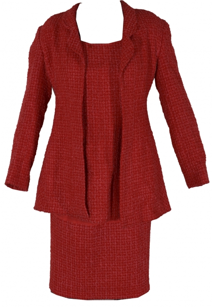 Iconic Three Piece Chanel Boucle Dress Jacket