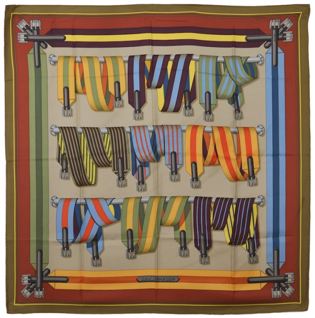 Classic Hermes Belts Silk Scarf