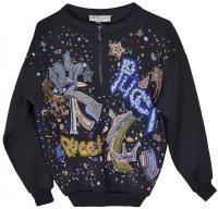 Fab Pucci Beaded Sweatshirt Jacket