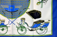 Fabulous Hermes Les Voitures a Transformation Silk Scarf