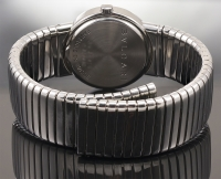 Bulgari Lady's Stainless Steel Tubogas Bangle Braclet Watch