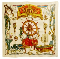 Magnificent Hermes Musee Silk Scarf