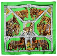 Gorgeous Hermes Equestrian Scarf