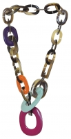 Gorgeous Hermes Horn and Lacquer Lariat Necklace