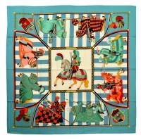 Gorgeous Hermes Chocs En Plumes Silk Scarf