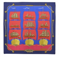 Classic Hermes Grande Largue Silk Scarf