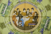 Hermes Jeu Des Omnibus et Dames Blanches Silk Scarf