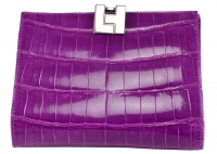 Delicious Grape Lambertson Truex Crocodile Wallet
