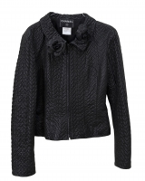 Rare and Gorgeous Chanel Lambskin Hand Tufted Jacket