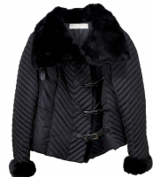Gorgeous Valentino Microfiber Jacket with Mink Collar and Leather Closures
