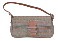 Beautiful Fendi Woven Leather Baguette Bag