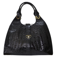 Fabulous Vintage Lederer Large Crocodile Handbag