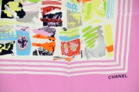 Amazingly Colorful Chanel Silk Scarf