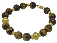 Simply Elegant Virginia Witbeck Tiger Eye Gold Bead Necklace