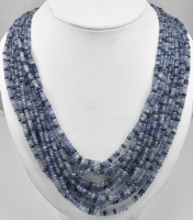 Amazing Virginia Witbeck Natural Sapphire Gold Multistrand Necklace